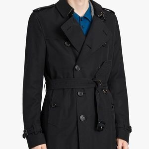 Burberry Brit Mens Short Trench Coat, Medium NWOT